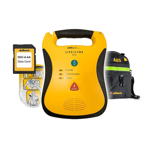 Defibtech Lifeline AED with Pads, Case and SD Card
