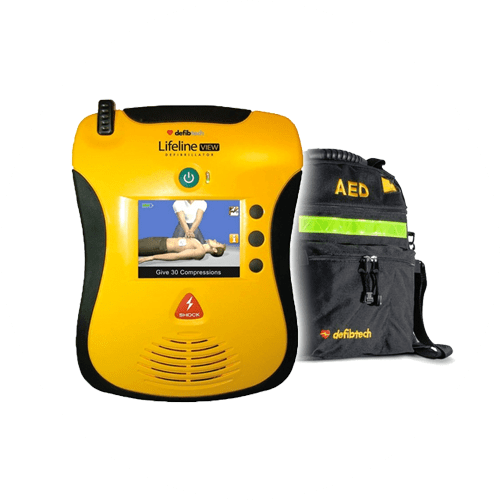 Defibtech Lifeline View AED with Carrying Case