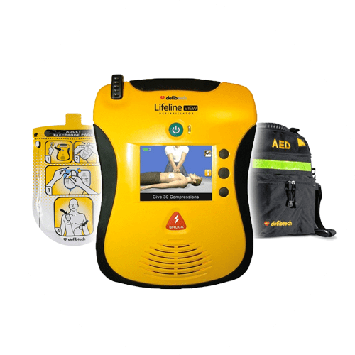 Defibtech Lifeline View with Pads and Carrying Case
