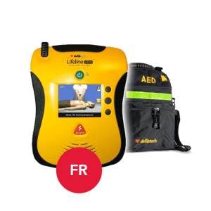 Defibtech Lifeline View in French Language with Carrying Case