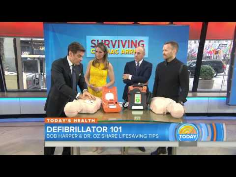 Automated external defibrillators by Cardiac Science featured on the TODAY show with Dr. Oz and Bob Harper